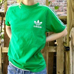Adidas | Original Cutout 3-Stripe T-Shirt in Green